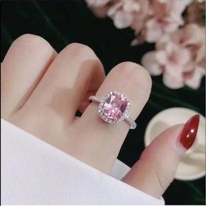 Gorgeous Pink 4 Carat CZ Diamond Ring